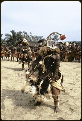 Dance of the mukyeem (mukenga) mask, Muentshi, Congo (Democratic Republic). [slide]