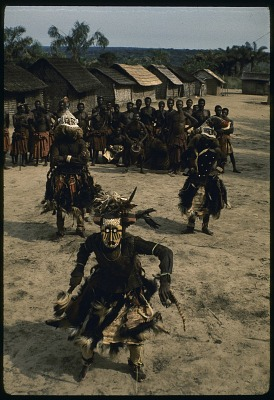 Pwoom Itok and mukyeem masked dancers, Muentshi, Congo (Democratic Republic). [slide]