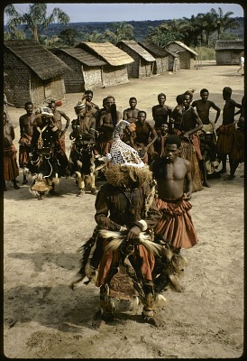 Dance of the mukyeem (mukenga) mask, Muentshi, Congo (Democratic Republic). [slide]