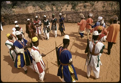 Hunters' festival during 10th anniversary of independence celebration, Niamey, Niger, [slide]