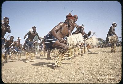 Irigwe dancers of Miango village, Jos Plateau, Nigeria, [slide]
