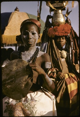 Ejagham girls of the Qua clan doing the Ekombi dance, Big Qua Town, Nigeria. [slide]