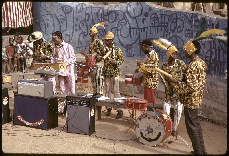 Image for Twins Seven Seven with his jazz band, Oshogbo, Nigeria, slide