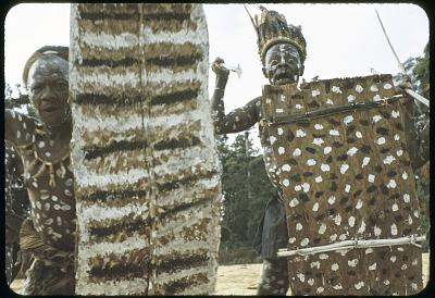 Rites built around a door-shield (keibi), part of the lutumbo lwa kindi initiations, Kabila village, Congo (Democratic Republic), [slide]