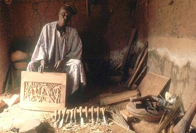 Bamgboye, a sculptor, Odo-owa, Nigeria, [slide]