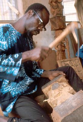 Lamidi Olonade Fakeye, at work, Ibadan, Nigeria, [slide]