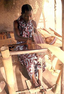 Yoruba weaver, Nigeria, [slide]