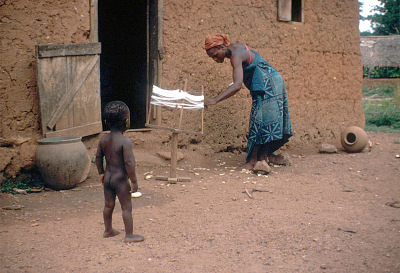 Weaving process, Ife, Nigeria, [slide]