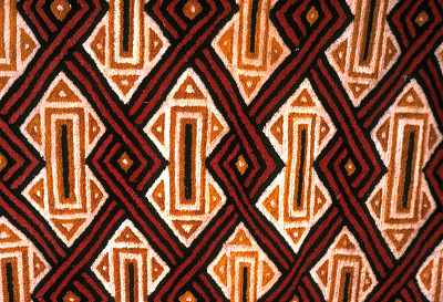 A cut-pile raffia cloth, Mushenge, Congo (Democratic Republic), [slide]