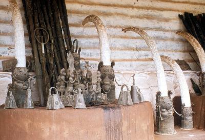 Ancestral shrine, House of the Oba, Benin City, Nigeria. [slide]
