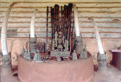 Ancestral shrine, House of the Oba, Benin City, Nigeria. [slide]