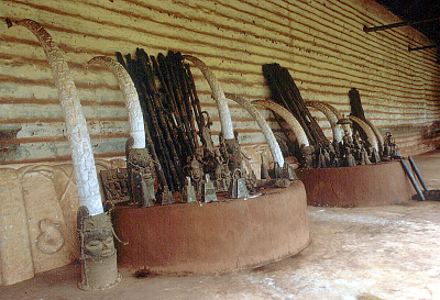 Ancestral shrines, House of the Oba, Benin City, Nigeria, [slide]