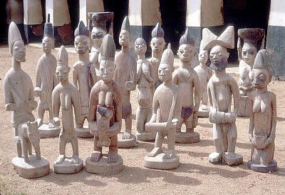 The Shango shrine of the Timi of Ede, Ede, Nigeria, [slide]