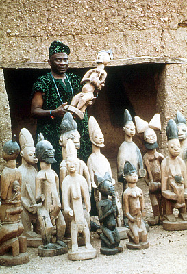 The Shango shrine of the Timi of Ede, Ede, Nigeria, [slide]