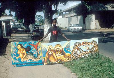 Congolese popular paintings, Kinshasa, Congo (Democratic Republic), [slide]