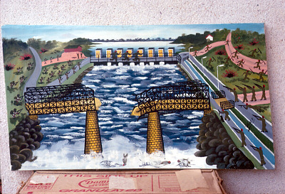 Congolese popular paintings, Kisangani, Congo (Democratic Republic), [slide]