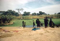 Domestic scenes outside a Dogon settlement, Sanga region, Mali, [slide]
