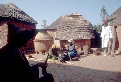 Irigwe women preparing a meal, Jos Plateau, Nigeria, [slide]