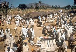Market at Zaranda village, east of Jos, Nigeria, [slide]