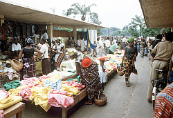 Clothing section at the market, Kinshasa, Congo (Democratic Republic), [slide]