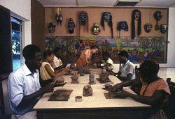 Art class at teacher training program, Ibadan, Nigeria. [slide]