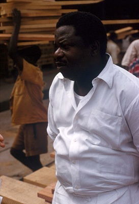 Lumber and rubber businessman Joseph Asaboro, Sapele, Nigeria. [slide]