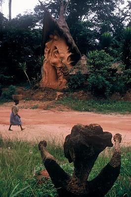 Shrine at the Osun Grove, Oshogbo, Nigeria, [slide]