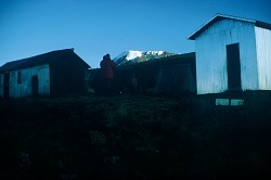 Overnight camp on the mountain slopes, Mount Kilimanjaro, Tanzania, [slide]