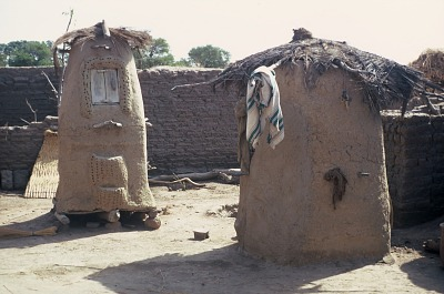 Granaries, part of family compound, Senou village, Mali. [slide]