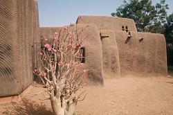 Mural decoration on mud brick compound, Zinder, Niger, [slide]
