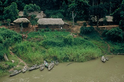 Rural dwellings among the Yoruba people, near Ife, Nigeria, [slide]