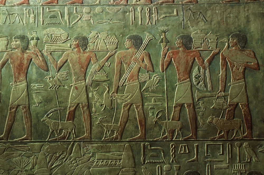 images for Polychrome low relief in tomb of Ptahhotep, Ṣaqqārah, Egypt, slide