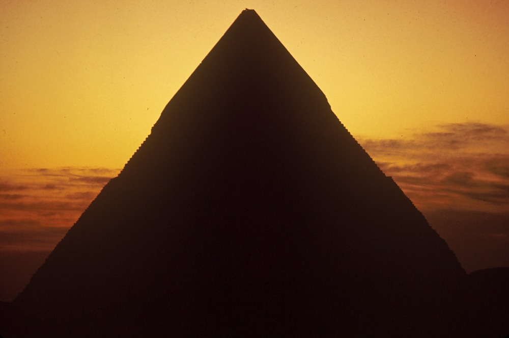 images for The pyramid of Khafre, Pyramids of Giza, Egypt, slide