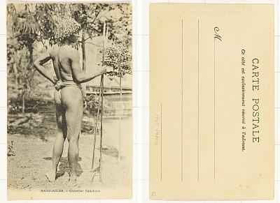 Madagascar - Guerrier Sakalava [postcard]