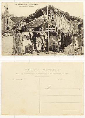 Madagascar - Tananarive [postcard] : Salon de Coiffure Malgache