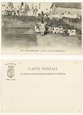 Madagascar - Dance d'enfants Malgaches [postcard]