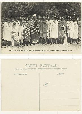 MADAGASCAR - Impoïnmerina [postcard] : roi des Bara-Imamono et sa suite