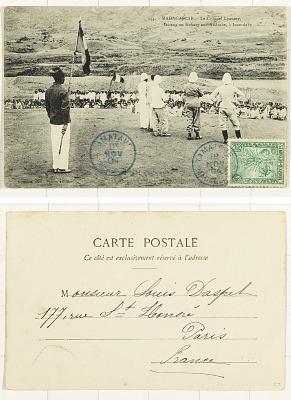 Madagascar - Le Colonel Lyautey, faisant un Kabary aux Andrabe, à Imandabe [postcard]