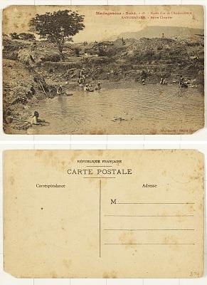 Madagascar - Nord, Mines d'or l'Andavakoera [postcard] : Ranomafana - Autre Chantier