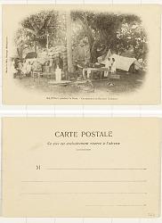 Majunga [postcard] : Pendant la Peste; Campement de Banians (Indiens)