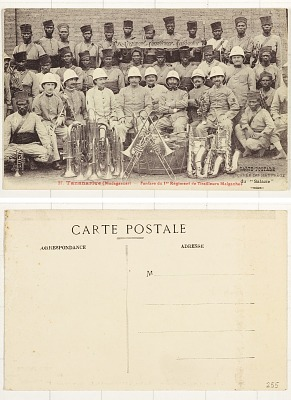 Tananarive (Madagascar) [postcard] : Fanfare du 1st Régiment de Tirailleurs Malgaches