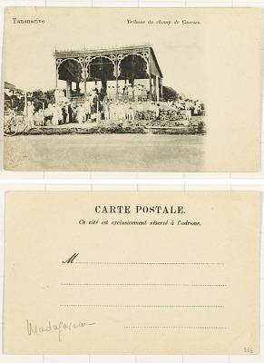 Tananarive [postcard] : Tribune du Champ de Courses