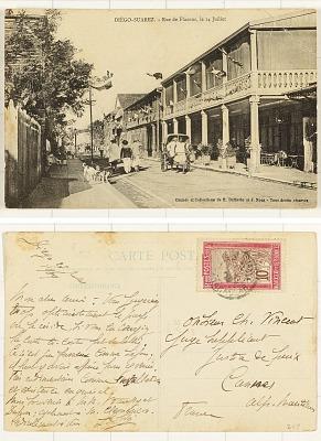 Diégo-Suarez [postcard] : Rue de Flacour, Le 14 Juillet