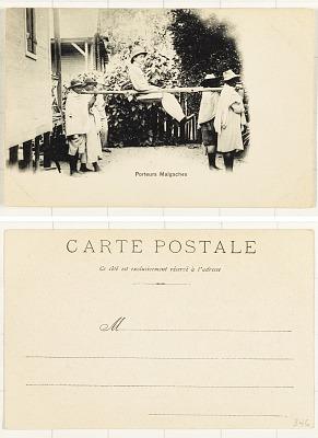Porteurs Malgaches [postcard]