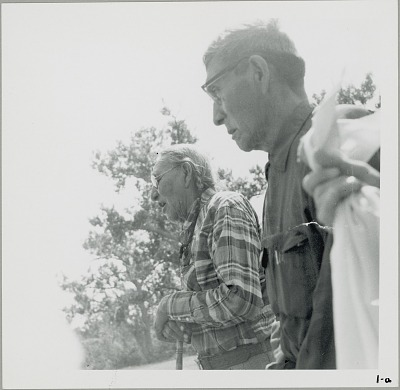 Ceremony, Outside Tipi: John Stands in Timber; Firewolf Singing Offering Songs to Henry Littlecoyote, Sacred Hat Keeper 11 JUL 1959