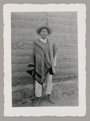 Benceslado Faninango, Governor of Community, Wearing Poncho n.d
