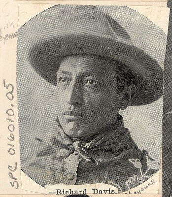 Portrait of Richard Davis in Partial Native Dress n.d