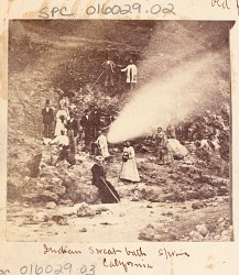 "Non-Native Group Around Small Geyser or Hot Spring Called ""Indian Sweat Bath"" n.d"