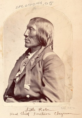 Portrait of Chief Hahki-Oomah, Called Little Robe, Wearing Military Jacket (Profile) JUN 1871