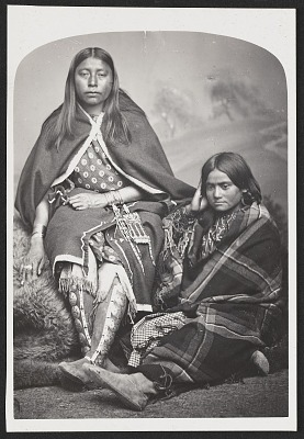 Looking for Something Good (Seated on Robe) with Unidentified Woman 1867-75
